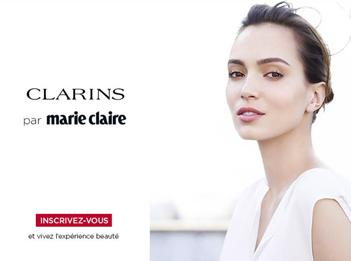 Opération Spéciale Clarins X Marie Claire gmc media